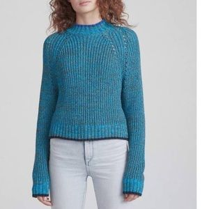 RAG & BONE ilana crew neck marled teal sweater S